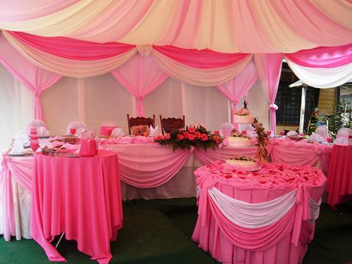 Розовая свадьба.